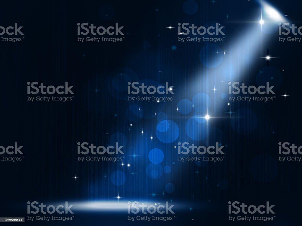 Stage Spotlight vector art illustration