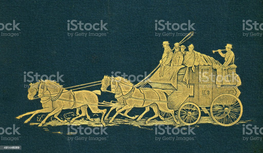 Stagecoach royalty-free stock vector art