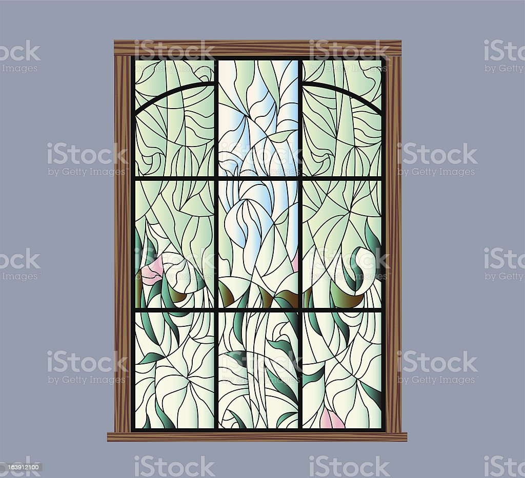 stained glass design royalty-free stock vector art