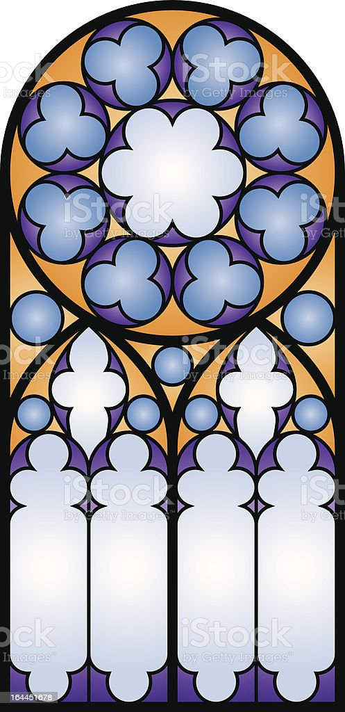 Stained Glass Window 1 vector art illustration