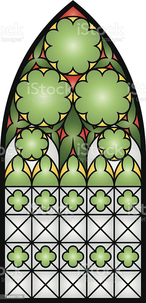 Stained Glass Window 2 vector art illustration