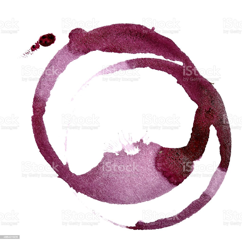Stains of red wine vector art illustration