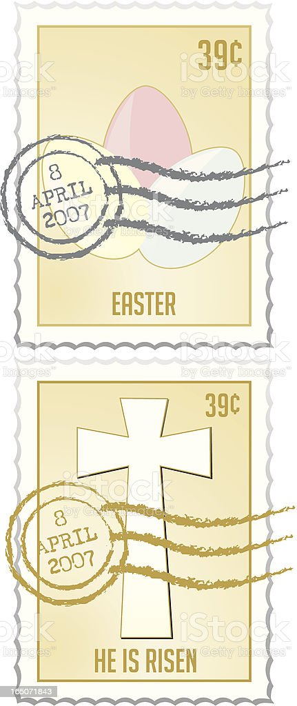 Stamp Series - Easter royalty-free stock vector art