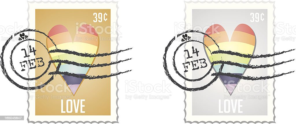 Stamp Series VI - Rainbow Stamps PRIDE royalty-free stock vector art