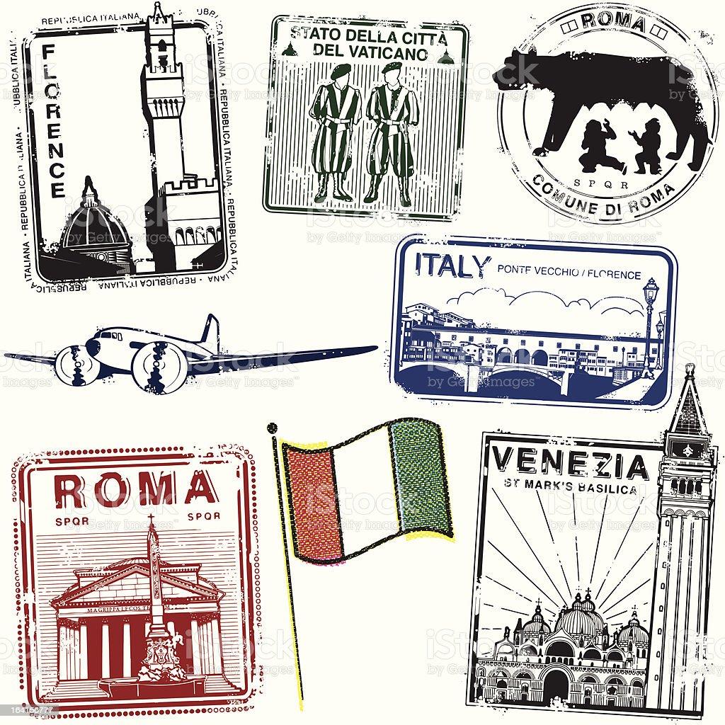 Stampa Italiana vector art illustration