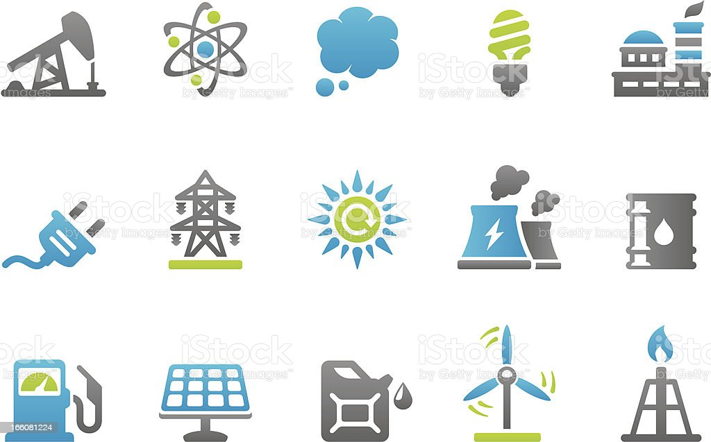 Stampico icons - Energy royalty-free stock vector art