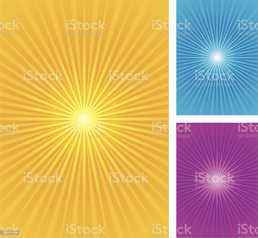 Star burst set royalty-free stock vector art