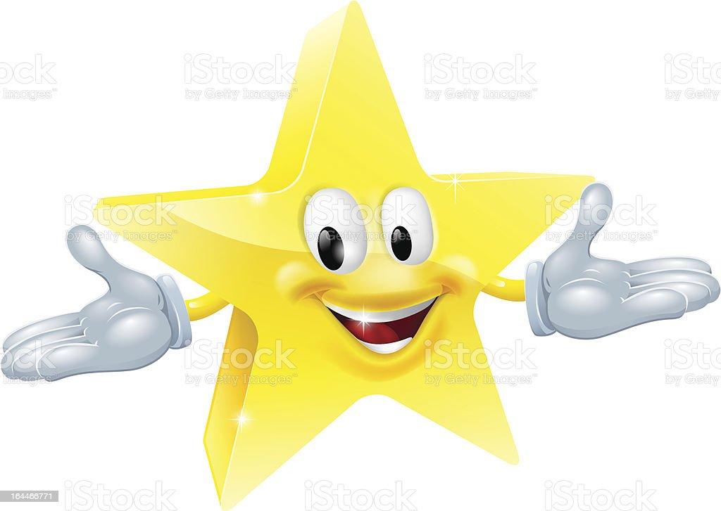 Star man character royalty-free stock vector art