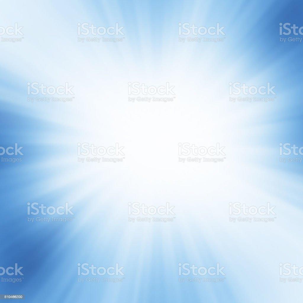 Starburst Blue Light Beam Abstract Background vector art illustration