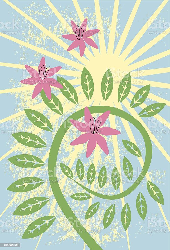 starburst floral vine royalty-free stock vector art