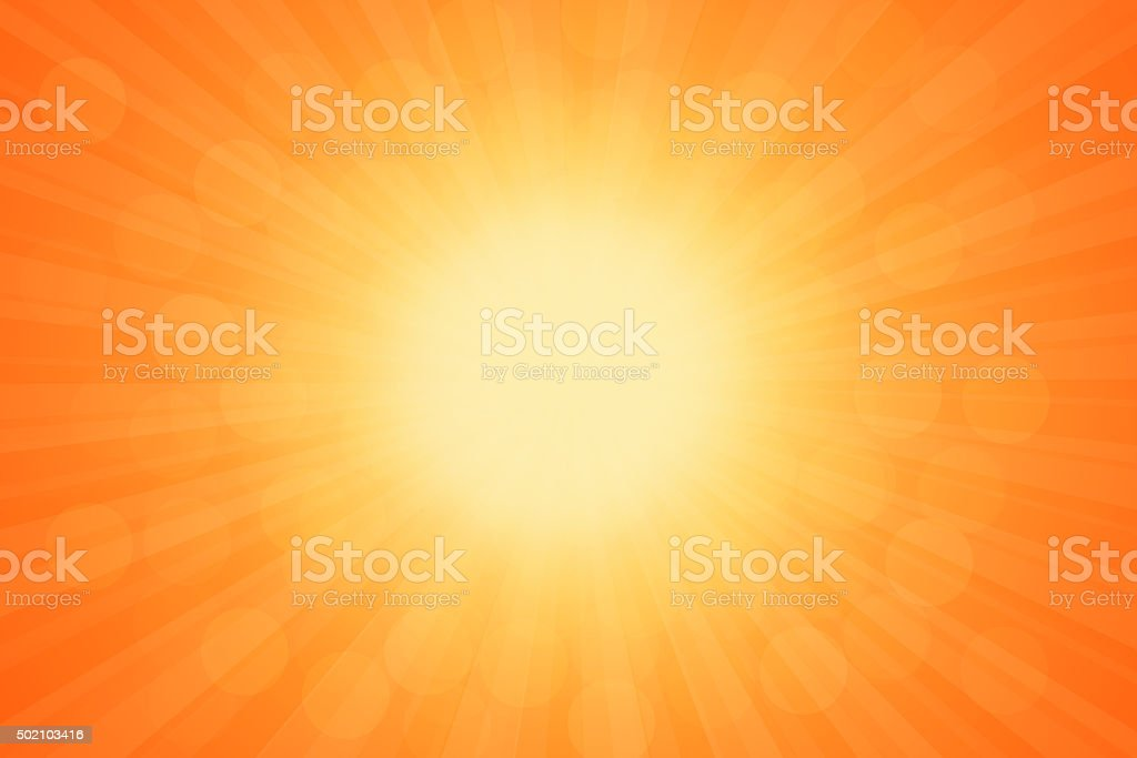 Starburst Orange Light Beam Abstract Background vector art illustration