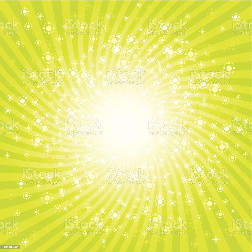 Starburst radial background vector art illustration
