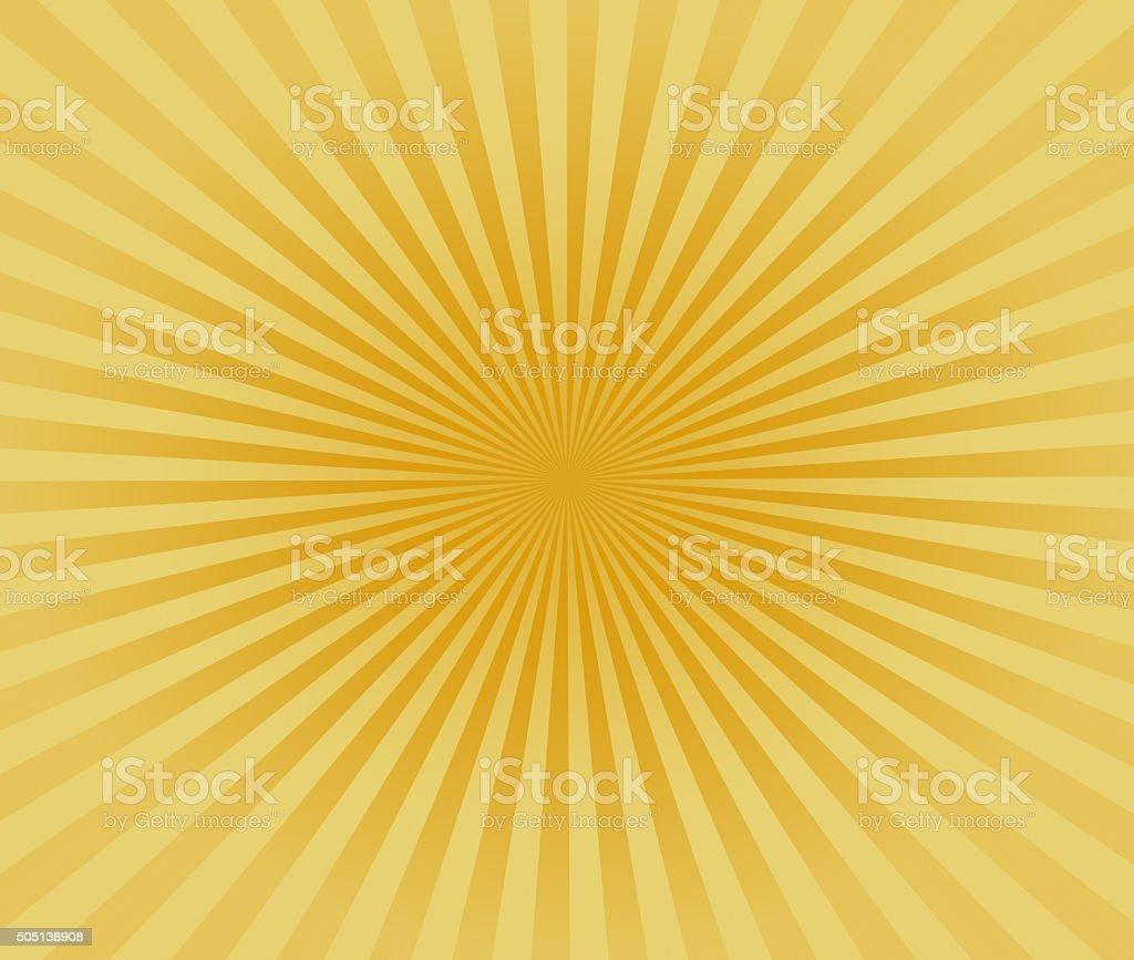 Starburst Yellow Light Beam Abstract Background vector art illustration