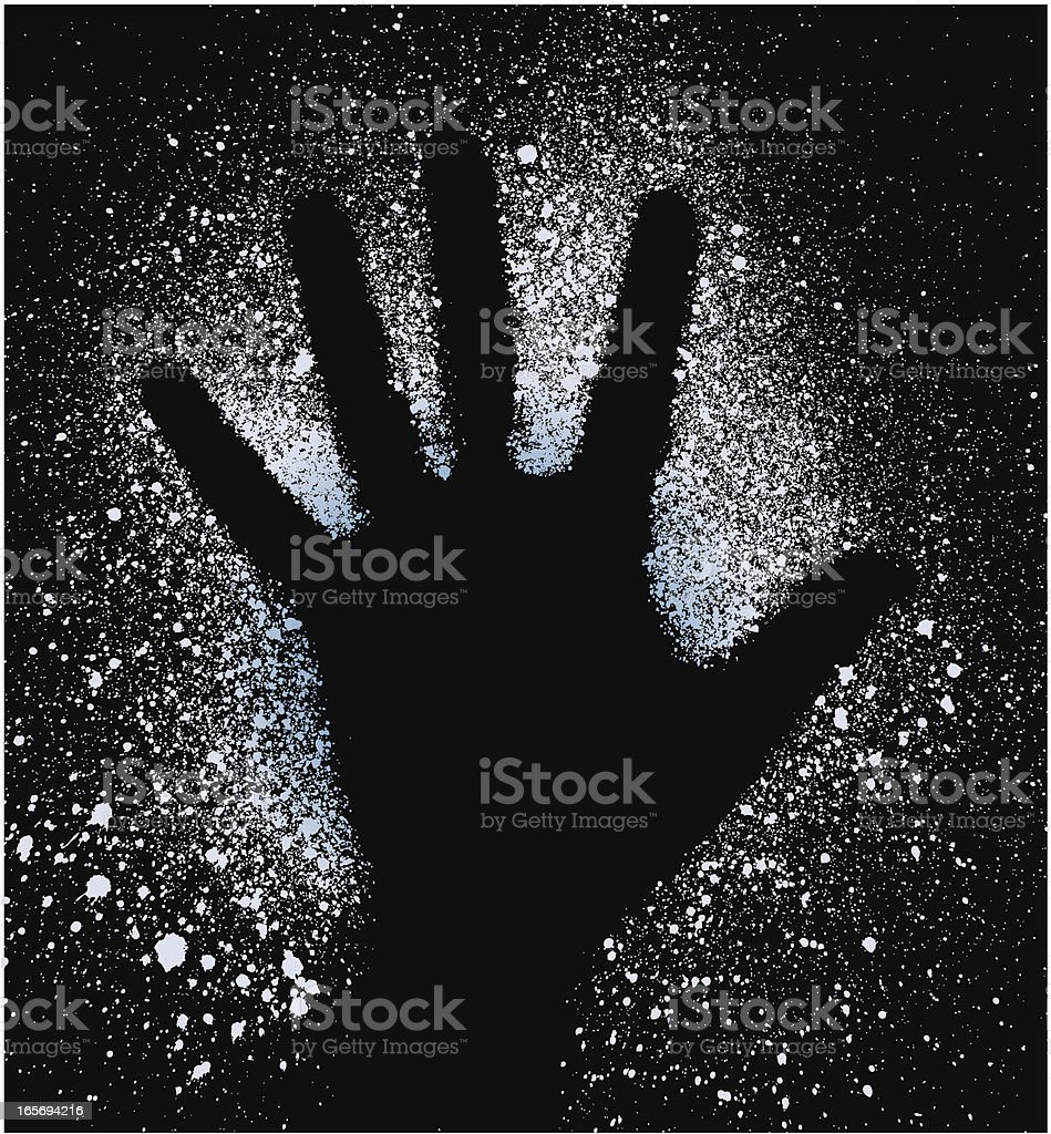 Starry Hand vector art illustration