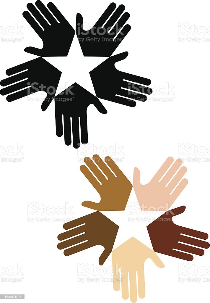 Starry hands royalty-free stock vector art