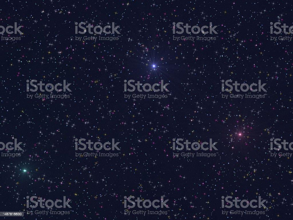 Starry space vector art illustration