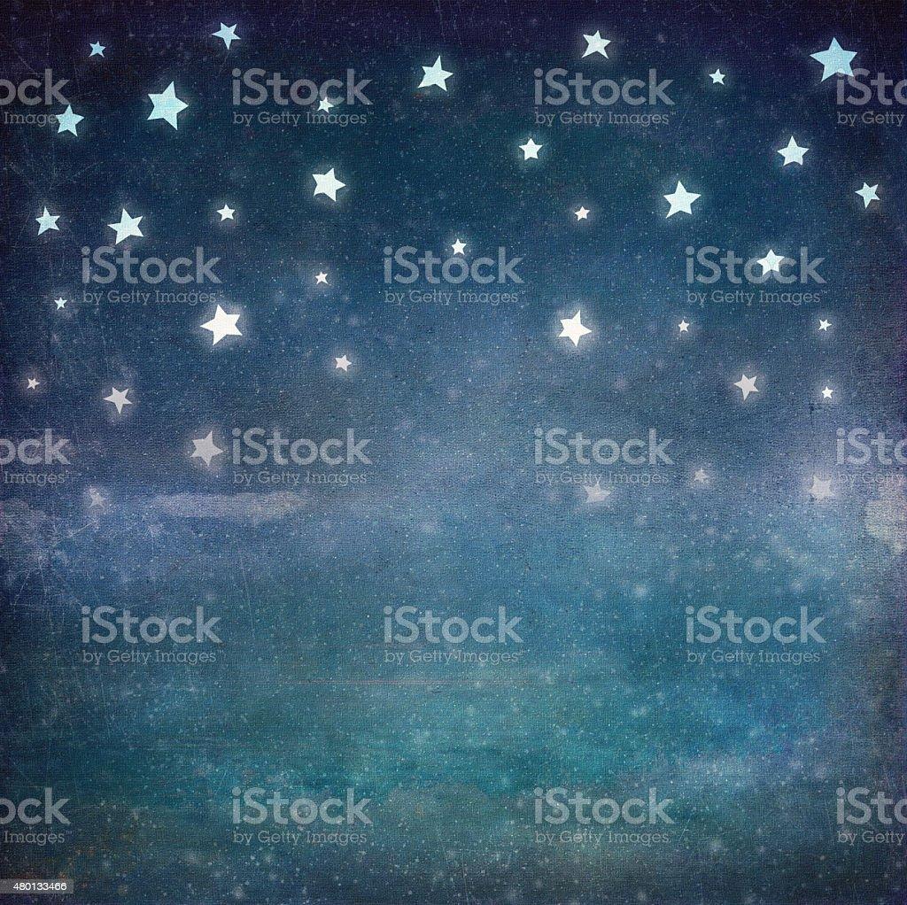 Stars at night grunge sky ,background vector art illustration