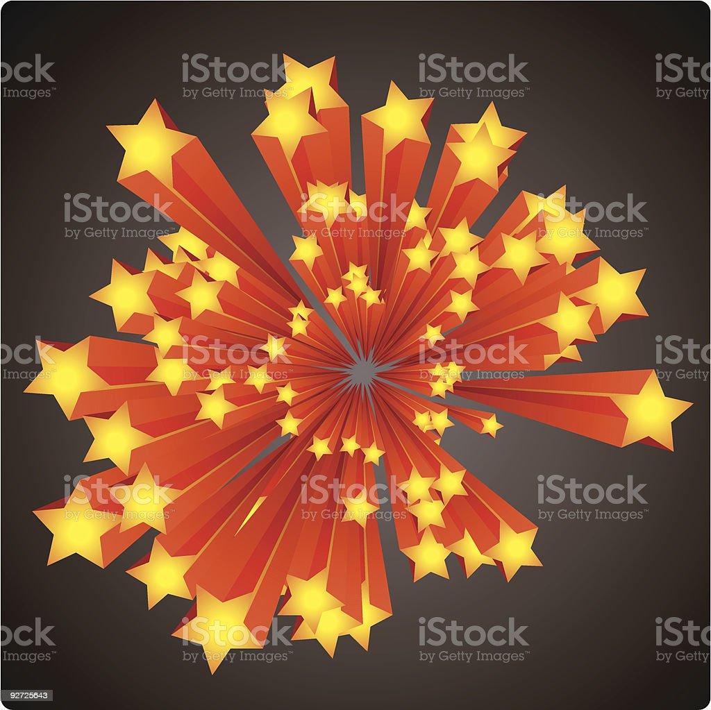 stars explosion vector art illustration