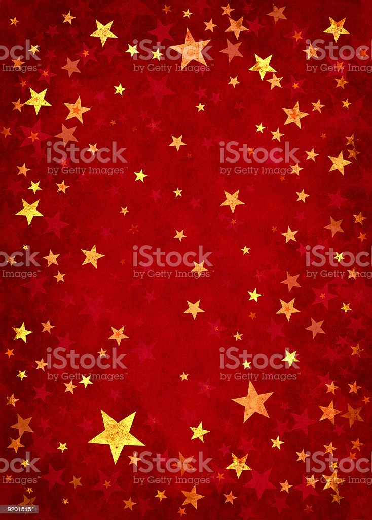 Stars on Red Background vector art illustration
