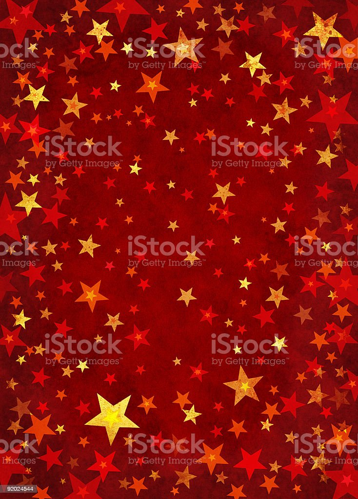 Stars on Red royalty-free stock vector art