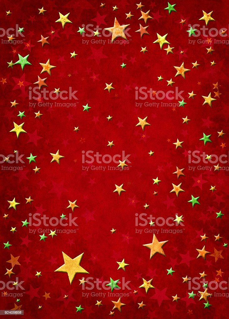 3D Stars on Red royalty-free stock vector art