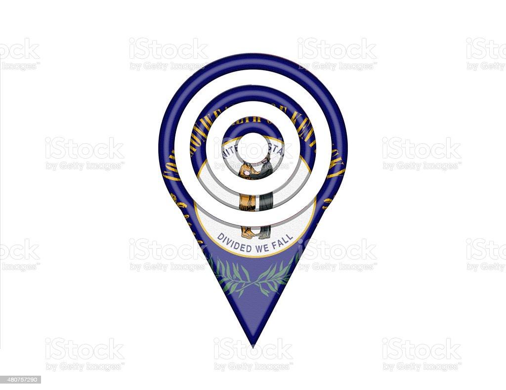 State Flag Pin of Kentucky vector art illustration