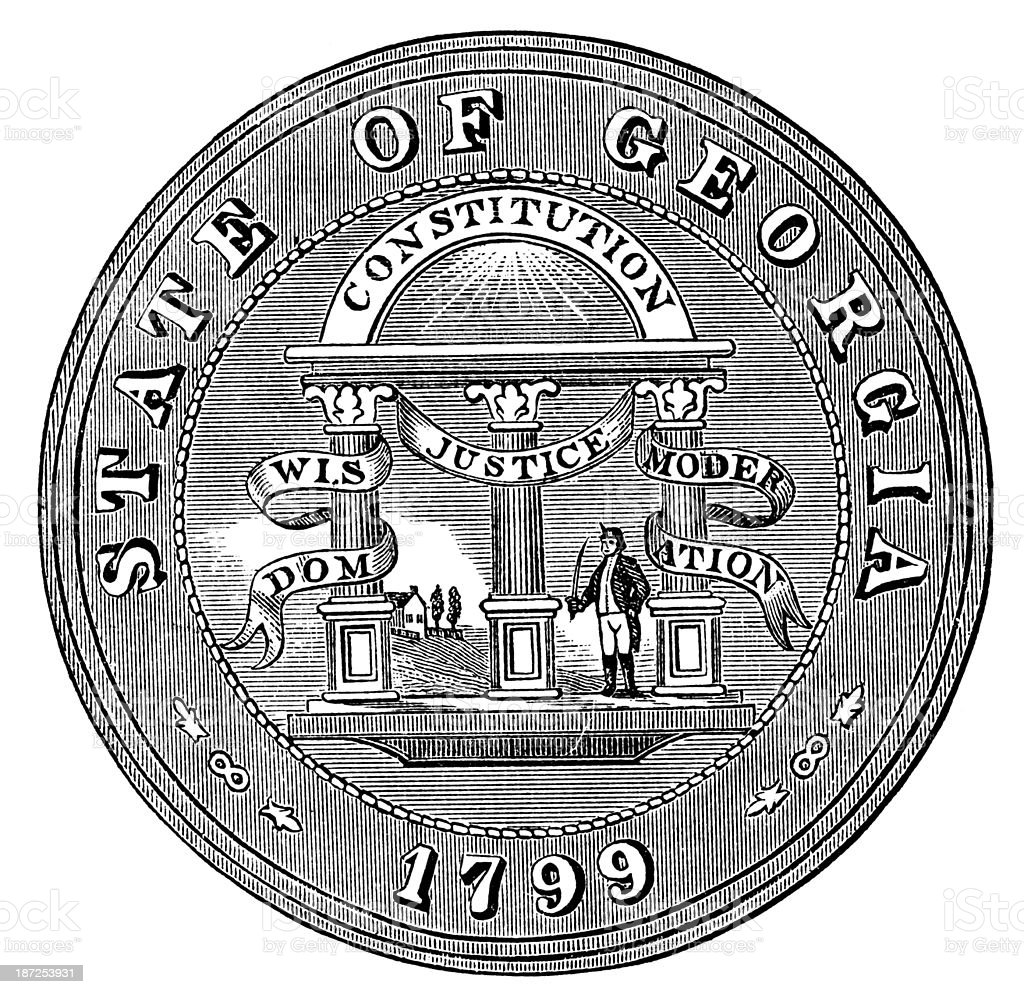State Seal Of Georgia royalty-free stock vector art
