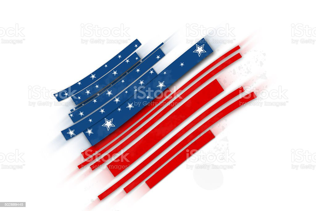 Stay true to the red, white and blue royalty-free stock vector art