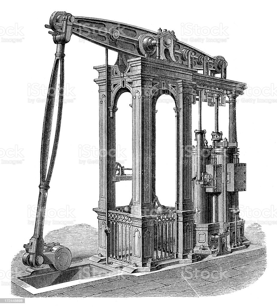 Steam Engine royalty-free stock vector art