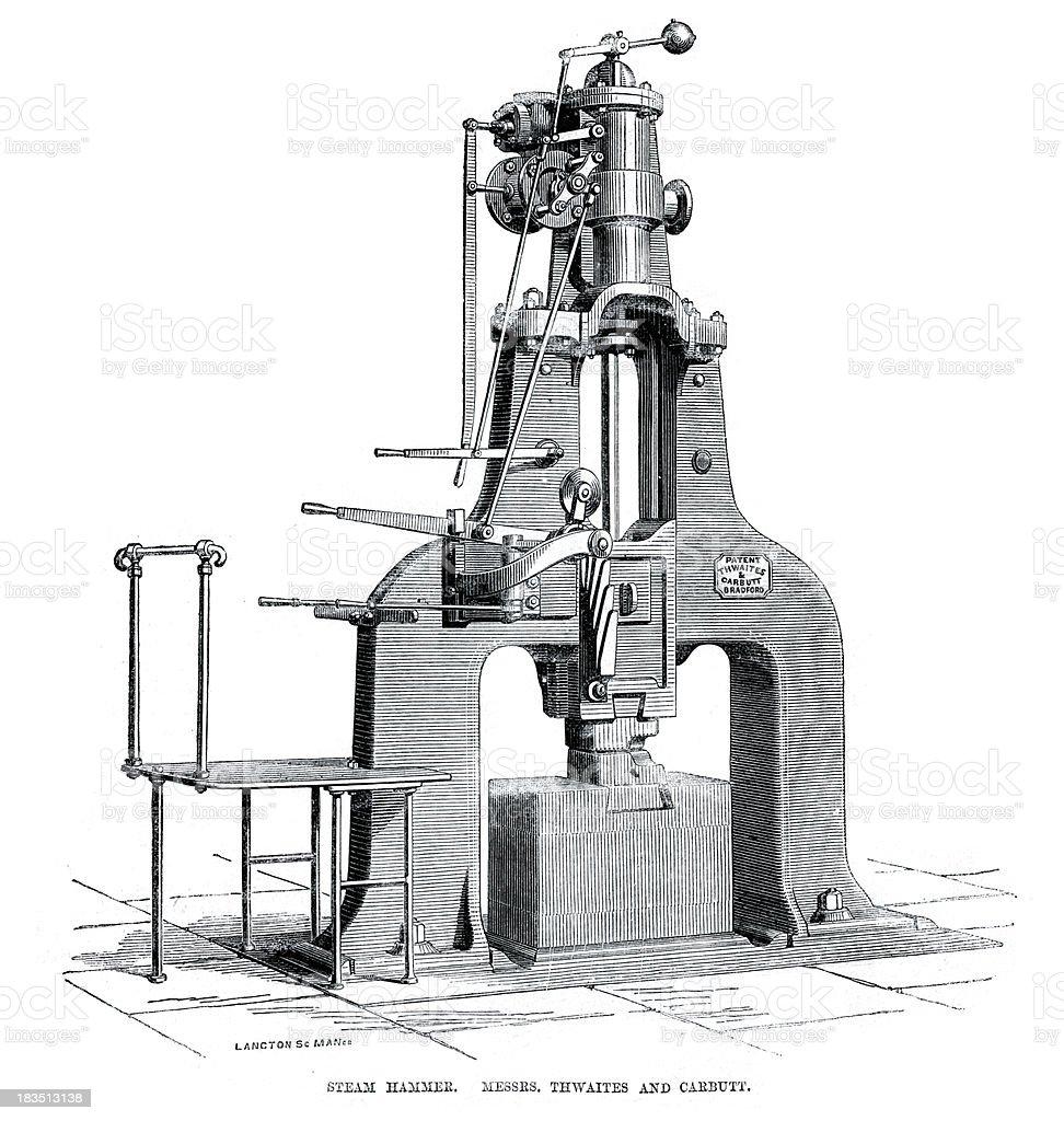 Steam Hammer royalty-free stock vector art