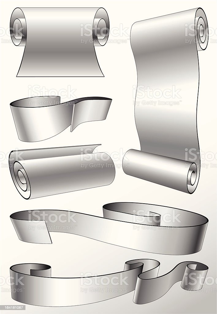 steel banners royalty-free stock vector art