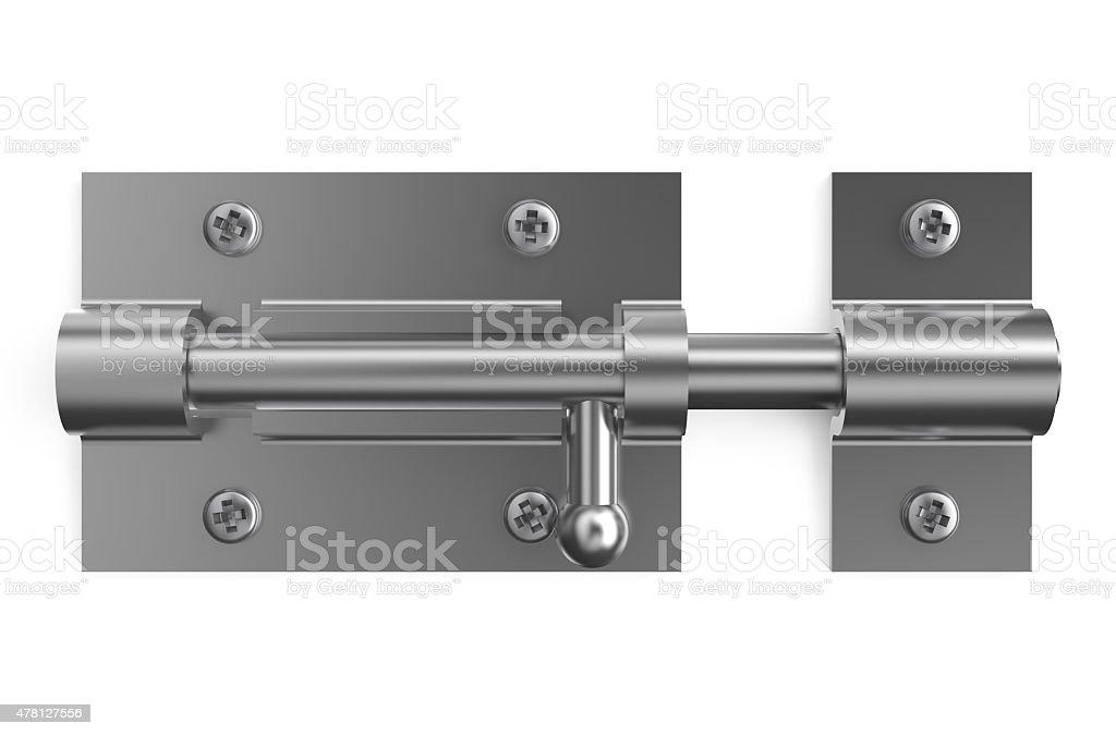 steel door latch, barrel bolt vector art illustration