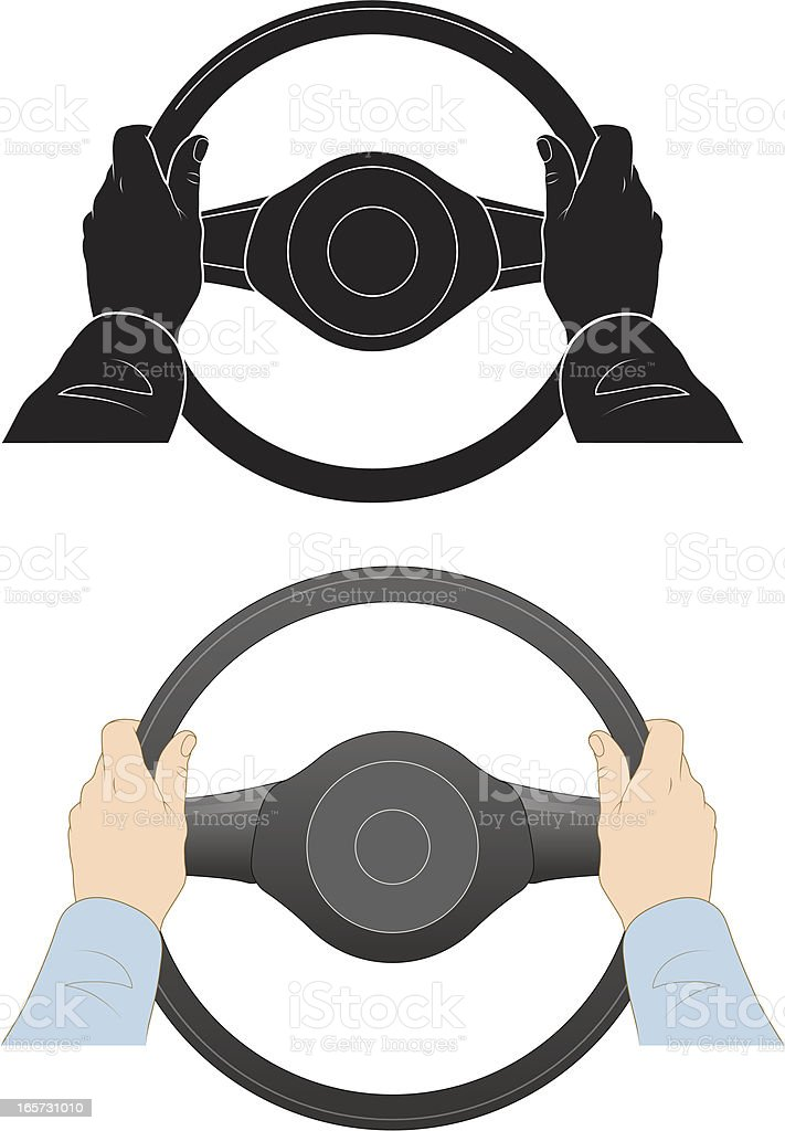 Steering wheel royalty-free stock vector art