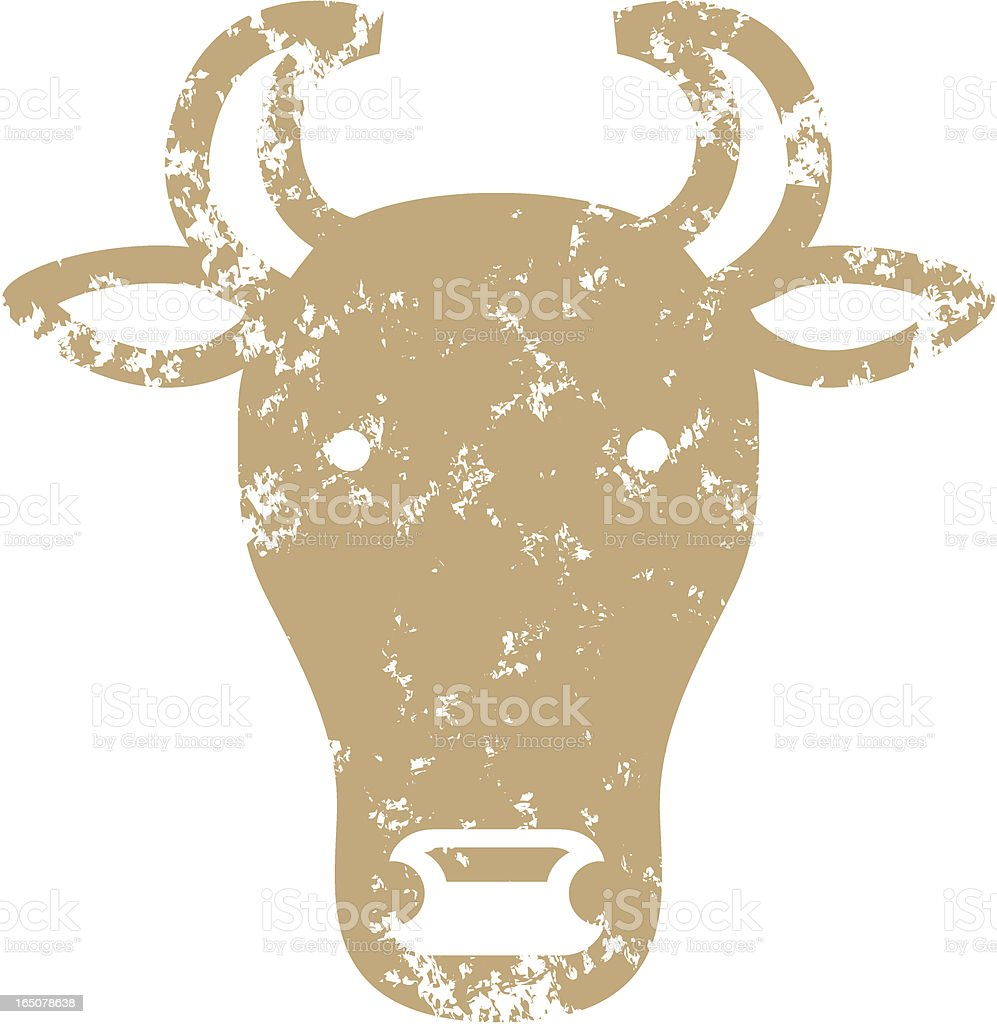 Stencil cow royalty-free stock vector art