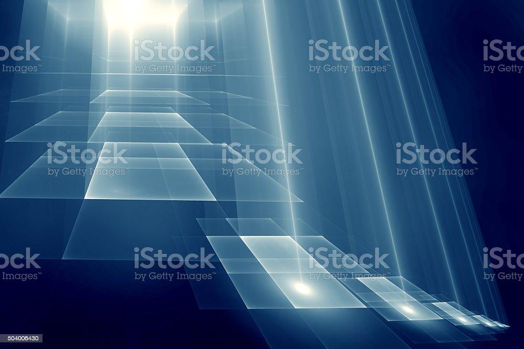 Step To Light vector art illustration