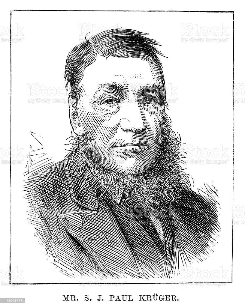 Stephanus Johannes Paulus Kruger vector art illustration
