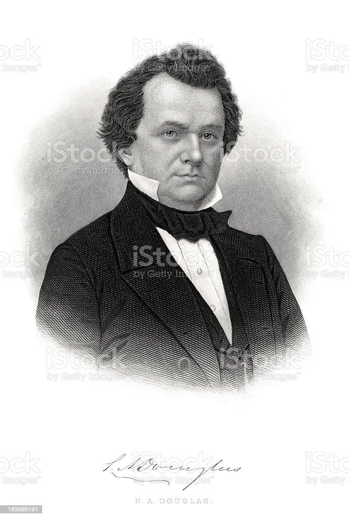 Stephen A. Douglas vector art illustration