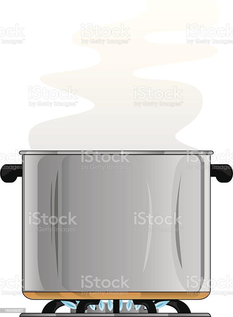stew pot vector art illustration
