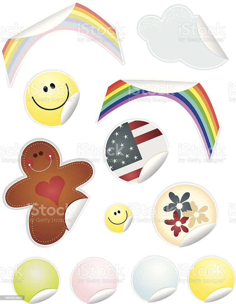 Sticker Set Two royalty-free stock vector art
