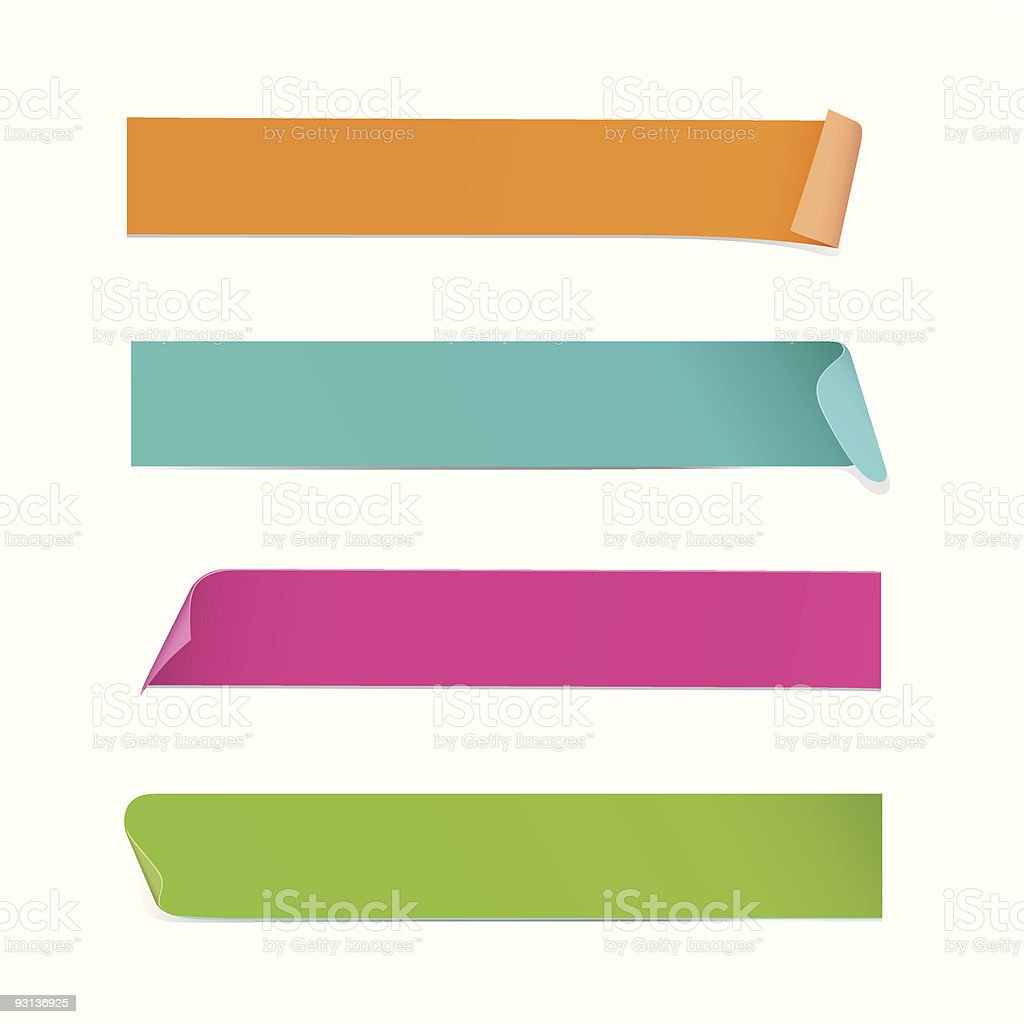Stickers / Adhesive Tape vector art illustration