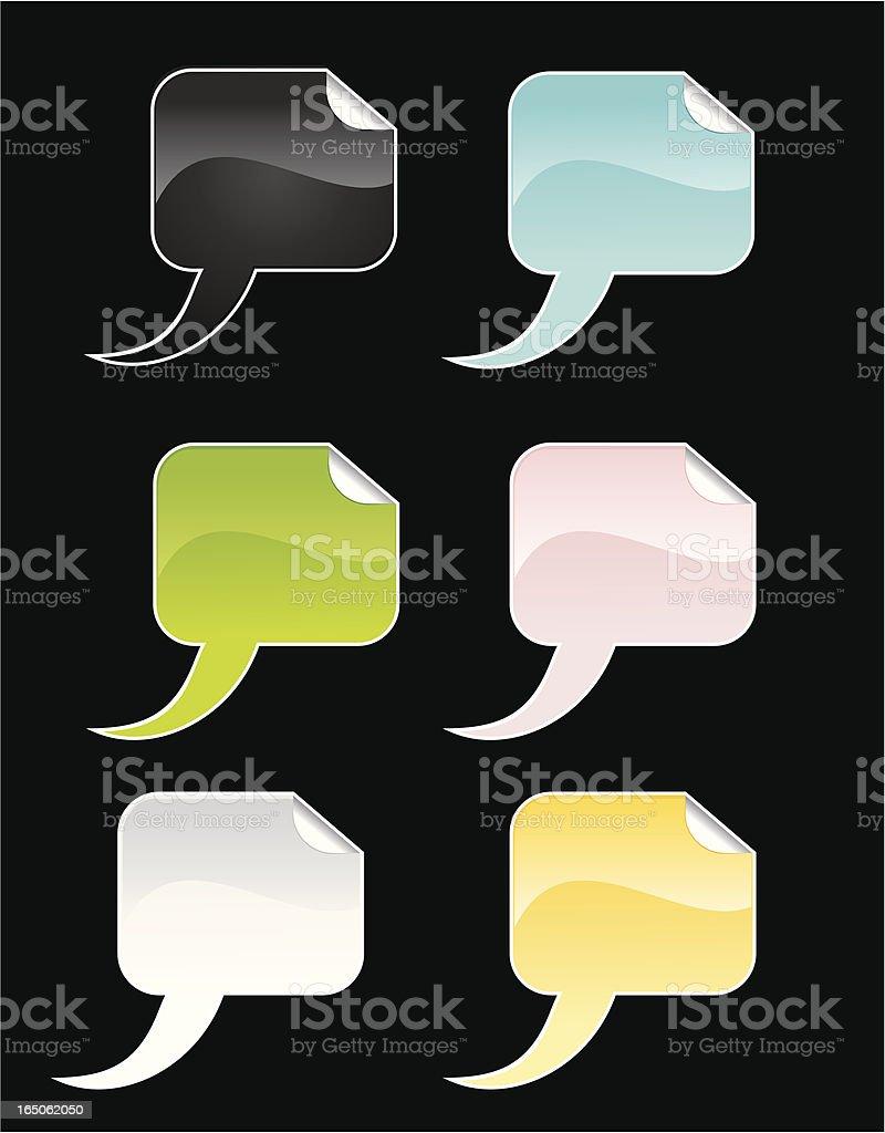 Sticky Speech Bubbles royalty-free stock vector art