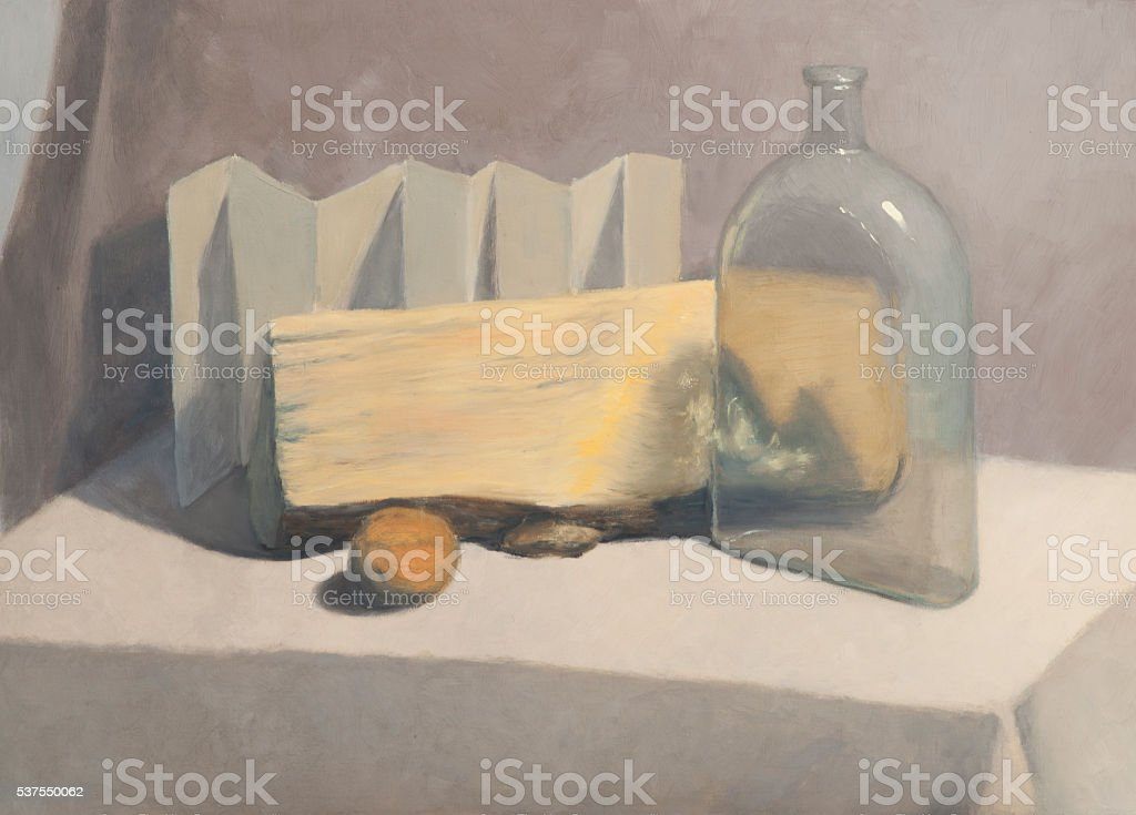 Still life genre vector art illustration