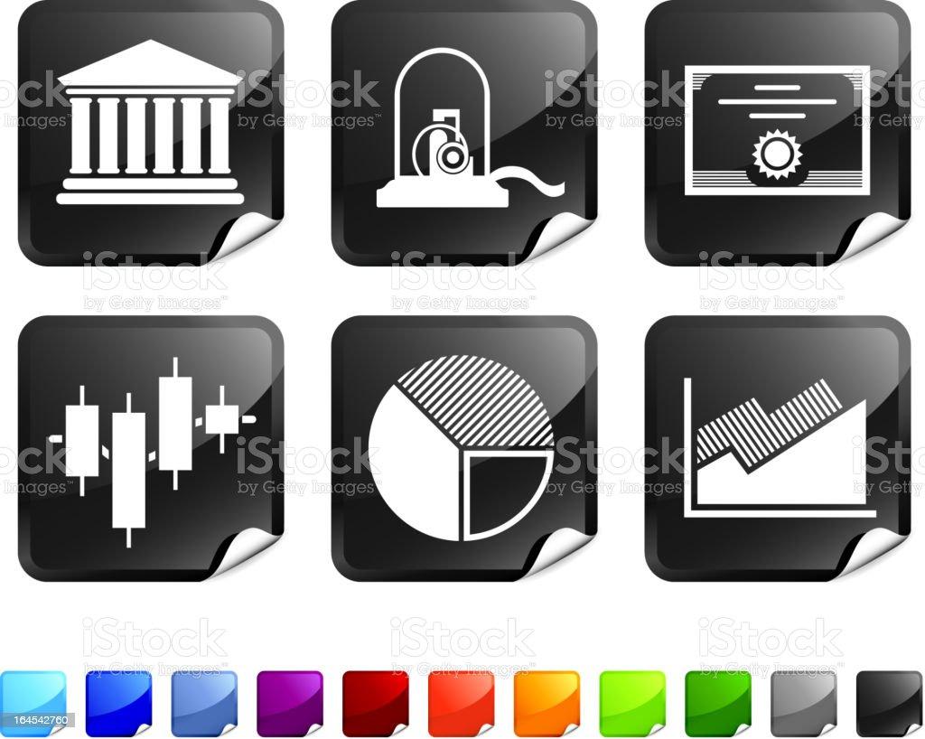 stock market royalty free vector icon set stickers vector art illustration