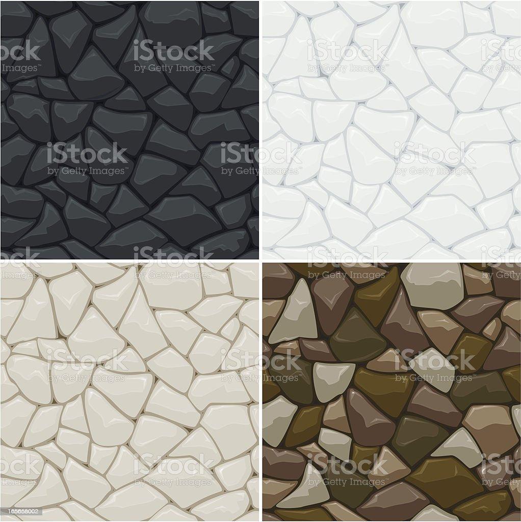 Stone seamless pattern vector art illustration