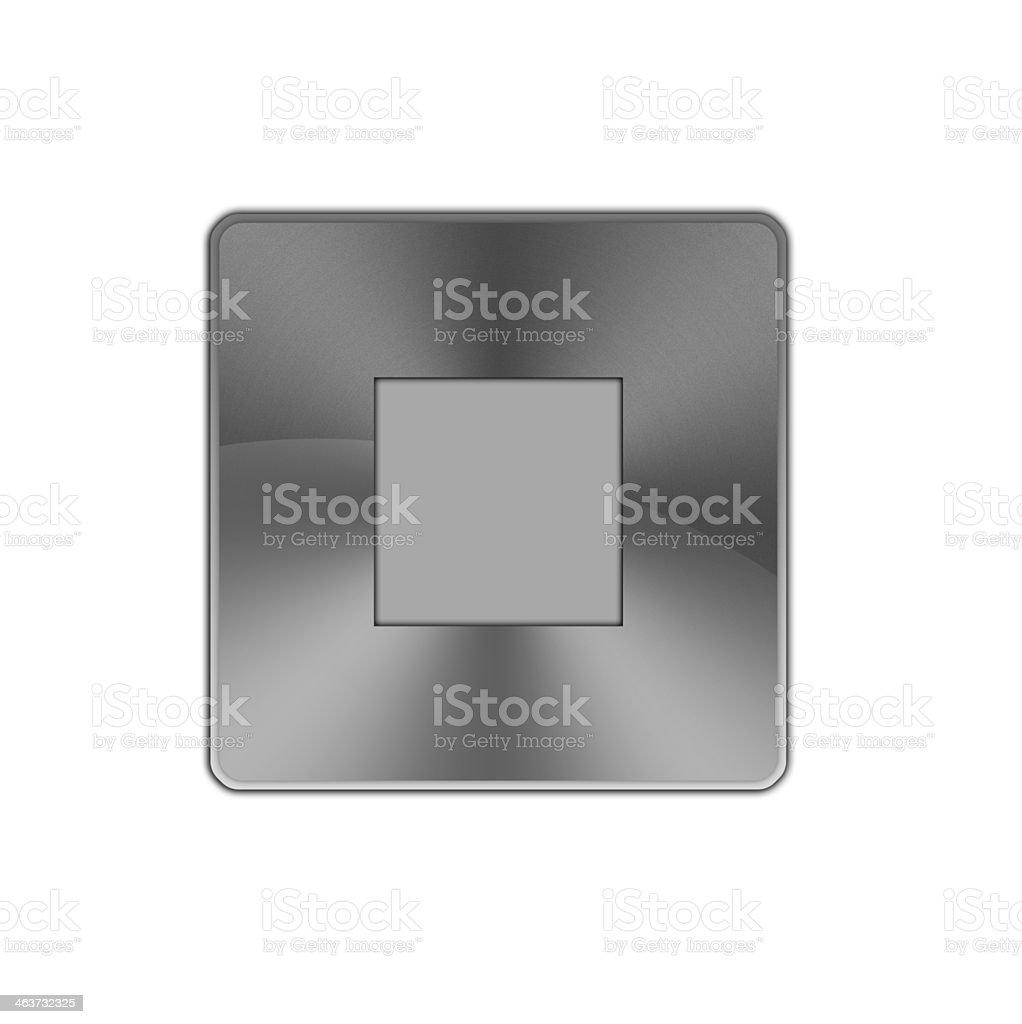 Stop button icon. royalty-free stock vector art