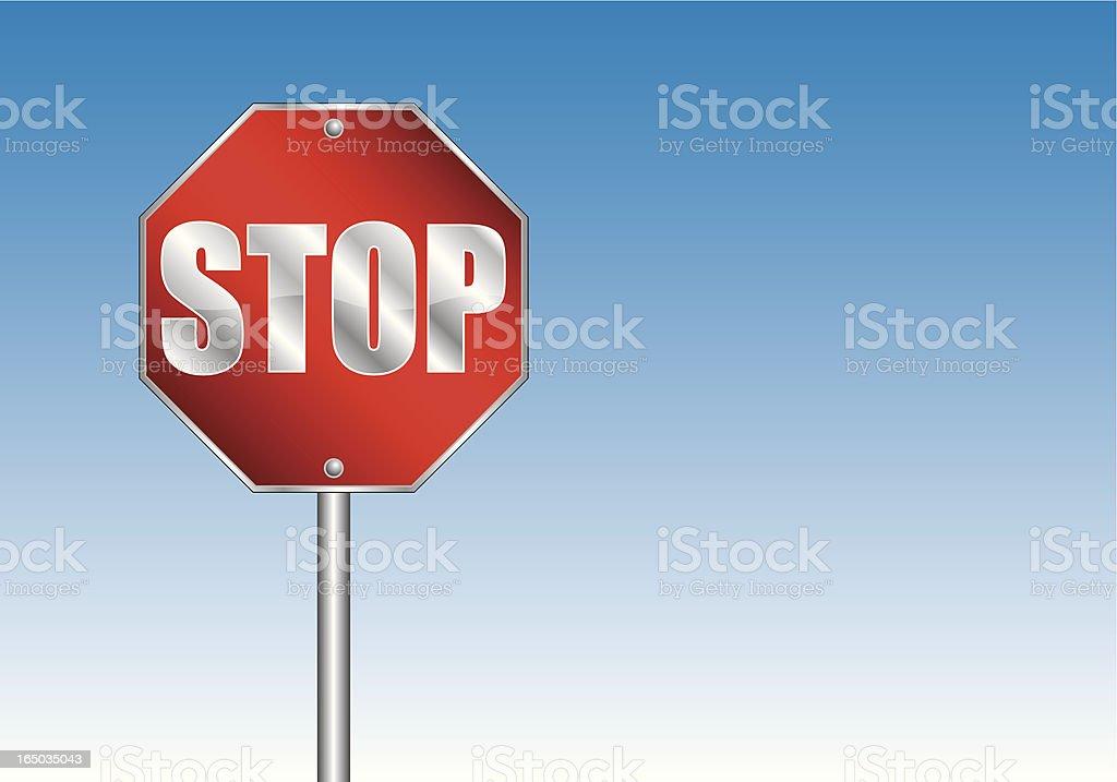 Stop (vector) royalty-free stock vector art