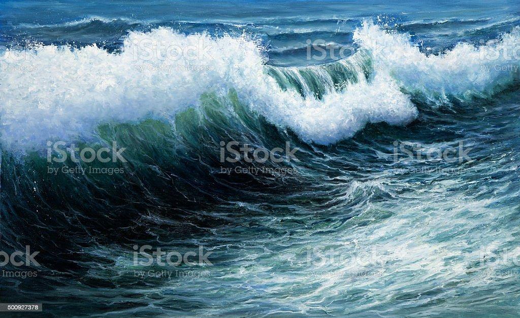 Storm vector art illustration