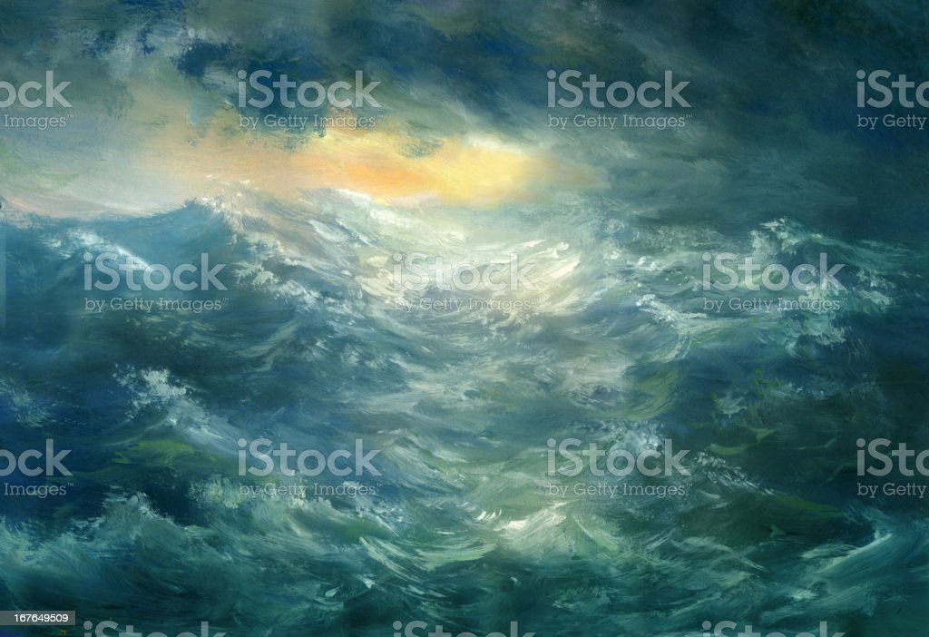 Storm is coming vector art illustration