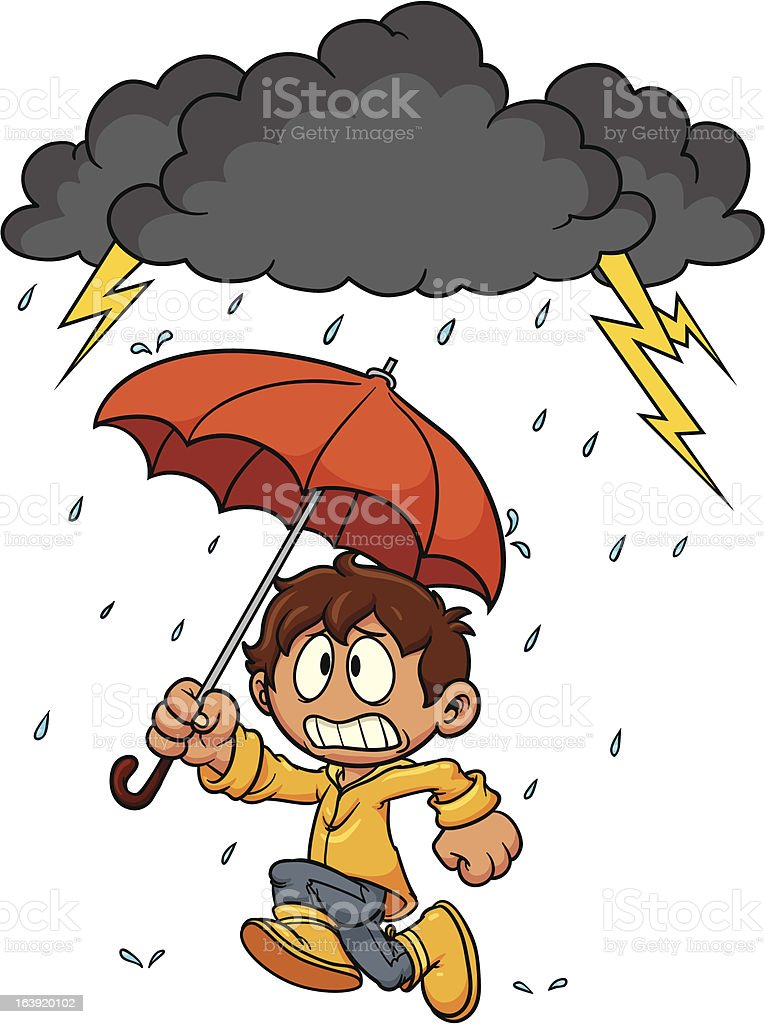 Stormy weather vector art illustration