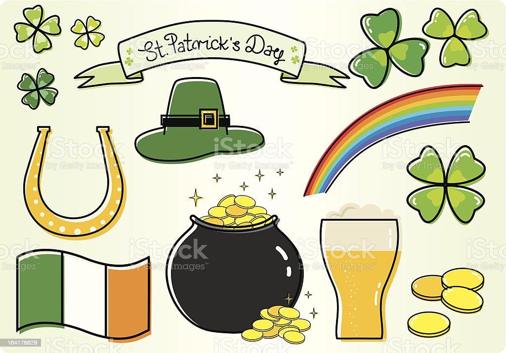 St.Patrick set royalty-free stock vector art